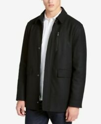 $225 Calvin Klein Black Wool-Blend Jacket Coat Mens Medium NEW