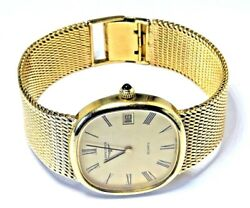 LONGINES 9ct 9k Gold Wrist Watch With 9ct Bracelet Fully Working 73.81 Grams