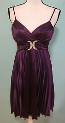 WOMENS DEB PURPLE DRESS SHORT SIZE MEDIUM $19.99