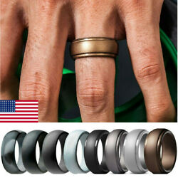 48 Pack Men Women Silicone Wedding Engagement Ring Rubber Band Flexible Sports