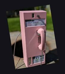 70's Vintage Payphone Retro Pink. Great She Shed Decor!