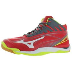 Mizuno Mens Wave Mirage 2 Mid Red Lace Up Sneakers Shoes 13 Medium D BHFO 4628 $28.83