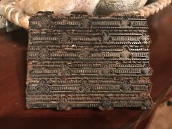 Antique Hand Carved Wood Stamp Textile Printing Block