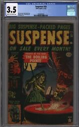 Suspense #24 Marvel Atlas Witch Hanging Boiling Bondage Cover CGC 3.5