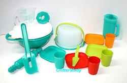 NEW Tupperware Childs Kids Cake Taker Serving and Mixing Bowl Set New Colors
