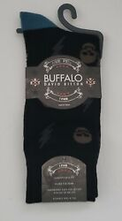 Buffalo David Bitton Mens Novelty Crew Socks SkullsSize 6 12.5 Navy $6.99