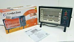 Comfort Zone Deluxe Radiant Electric Heater in Original Box amp; Owners Manual $20.00