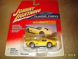 Johnny Lightning Classic Chevy YELLOW 1970 Corvette new SEALED! EXCELLENT CARD!