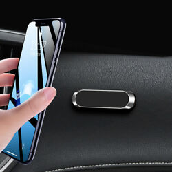 Strip Shape Magnetic Car Phone Holder Stand For iPhone Magnet Mount Parts Silver $6.63