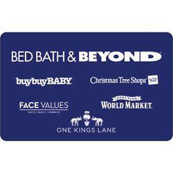 $100 Bed Bath & Beyond or Buy Buy Baby Gift Card For 15% Off!