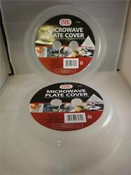 2 PK MICROWAVE PLATE COVER LID 10