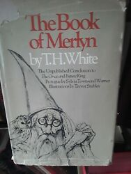 BOOK OF MERLIN WITCHCRAFT OCCULT vintage rare HARDback DJ