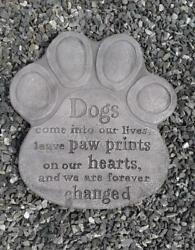 Dogs Come Into Our Lives PlaqueStepping Stone