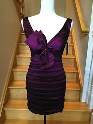 NEW JOVANI Purple Party Prom Pageant Sweet 16 Short Dress SIZE 2 $69.99