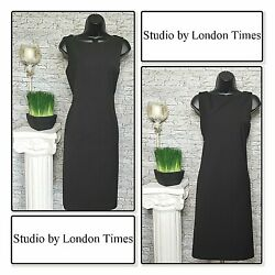 STUDIO By LONDON TIMES Ladies Sheath Dress BLACK NEW WITHOUT TAGS