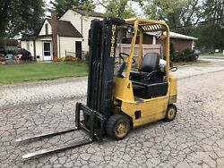 1987 Hyster S40XL PROPANE 4000 LB CAPACITY 3 MAST FORKLIFT GOOD WORKING CONDITIO