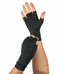 Tommie Copper Women's Half Finger Support Compression Gloves Hand Pain Relief