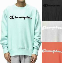 Champion Life Men#x27;s Reverse Weave Crew Sweatshirt Pullover Mesh amp; Leather Logo $29.90