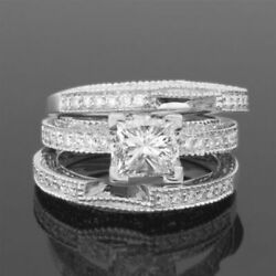 COLORLESS DIAMOND BAND RING 1.96 CARATS WOMEN ANTIQUE STYLE 18K WHITE GOLD