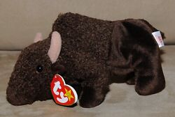TY Roam the Buffalo Beanie Baby - Excellent Condition PE Pellets