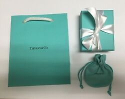 Brand New Authentic Tiffany & Co Jewelry Gift Bag Gift Box Pouch Card FREE SHIP