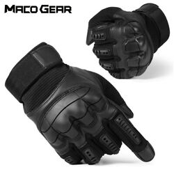 US Black Leather Touchscreen Gloves Driving Motorcycle Motorbike Motocross Gear $18.89