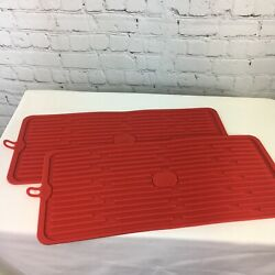 Set of 2 Silicone Drying Mats QVC Kitchen Red $9.42