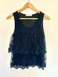*BRAND NEW* Black Lace Boho Tank Top Bohemian Tops for Women $8.99