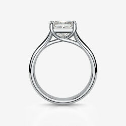 CERTIFIED SI2 D PRINCESS DIAMOND RING 18K WHITE GOLD WEDDING COLORLESS 3.01 CT
