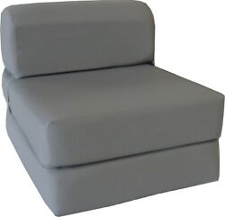 Flip Chair Folding Foam Beds, Foldable Guest Sofa Bed, Couch 6x24x70, Gray $119.98