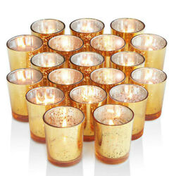 12Pc Votive Candle Holder Mercury Glass Tealight Candlestick Wedding Home Party $16.79