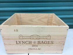 Wine Box Case Wooden Crate Holds 6750ml Chateau Lynch Bages 2016