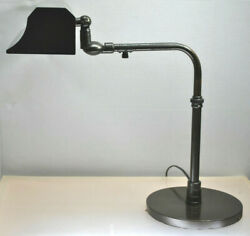 ANTIQUE ARTICULATING INDUSTRIAL  DESK  BANKERS  STEAMPUNK LAMP