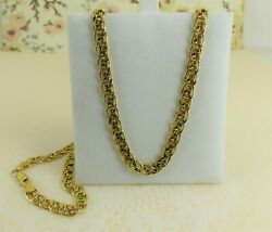 9ct 9carat Yellow Gold Fancy Curb Link Chain 18'' Inch 5.6 grams