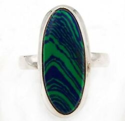 Must Have Natural Azurite 925 Solid Sterling Silver Ring Jewelry Sz 6.5 C16-4