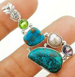Nice Design Azurite 925 Solid Sterling Silver Pendant G4-4