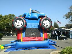 Monster truck inflatable bounce house  with Blower
