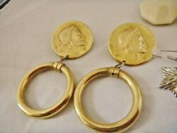 vintage costume jewelry lot 3 pair clean and ready to wear.one featuring Henry