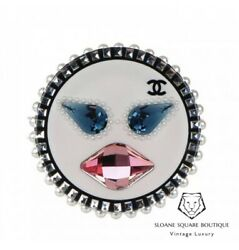 CHANEL Emoji Happy Face Large Brooch BNWT Harrods Very Rare Bnwt
