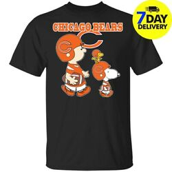 Chicago Bears Let's Play Football Together Snoopy² NFL² T-Shirts MEN Black