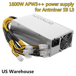 Original 1600 Watt AntMiner APW3++ PSU Power Supply for BTC Eth Bitmain A3 S9