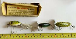 Lot (3) Vintage Fred Arbogast Fishing Lures- Hula Dancer JointedReg. Jitterbug