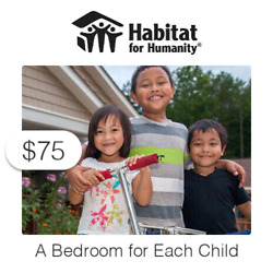 $75 Charitable Donation For: A Bedroom for Each Child $75.00