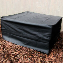 Sunnydaze Square Black Outdoor Fire Pit Cover 48-Inch Square X 18-Inch Tall