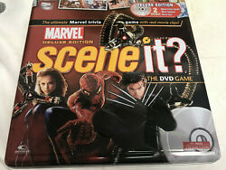 Marvel Scene It Deluxe Edition Trivia board Game Collectible Tin Complete