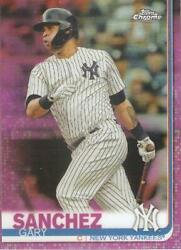 2019 TOPPS CHROME GARY SANCHEZ PINK REFRACTOR PARALLEL RETAIL CARD #22