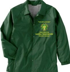 AAI RQ 7 SHADOW UAV ARMY AVIATION *COACHES EMBROIDERED LIGHTWEIGHT JACKET $69.95