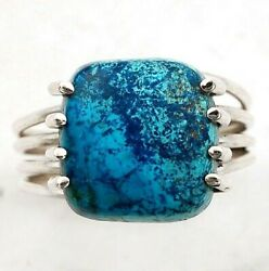 Natural Azurite 925 Solid Sterling Silver Ring Jewelry Sz 10 C22-8