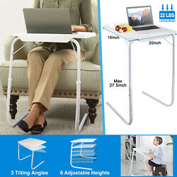 Portable Foldable Sofa Table TV Dinner Bed Adjustable Tray Laptop Side Table $25.99