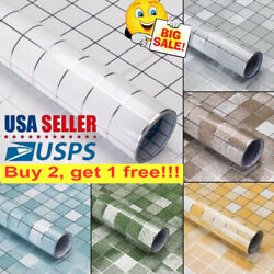 Self Adhesive Waterproof Oil-proof Wall Paper Bathroom Tile Stickers Home Decor